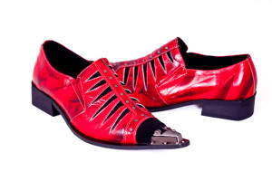 Funky red shoes